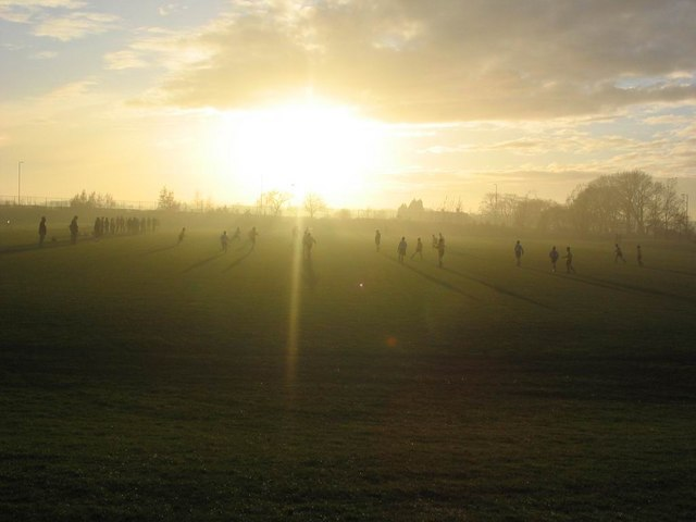 Edge Hill College Football Pitch at Sunset