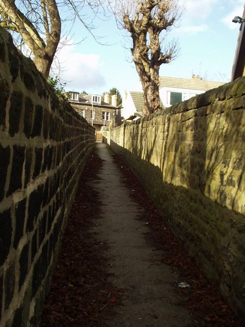 Ginnel from Oliver Hill to Outwood Lane, Horsforth