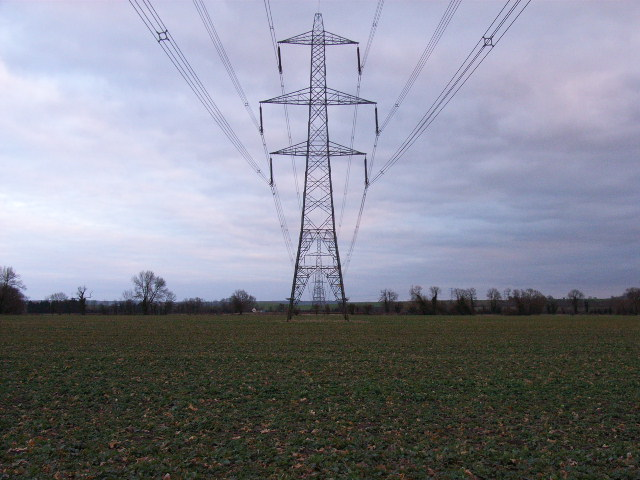 Pylon, midway between Cholsey and Aston Tirrold