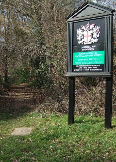 Burnham Beeches Sign