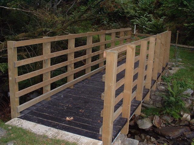 Bridge to Hafod woods
