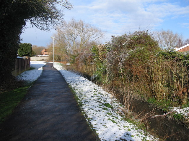 Footpath alongside Bitham Brook