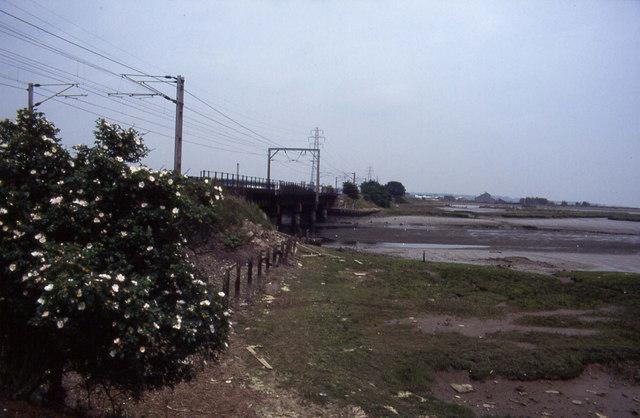 Railway crossing Stour Estuary, nr Manningtree