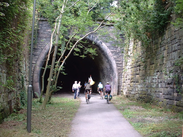 The tunnel at the start of the Tissington Trail, Ashbourne