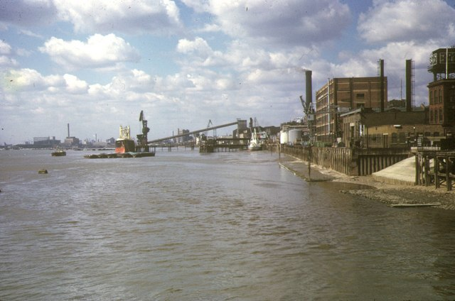 North Woolwich Riverfront, 1973