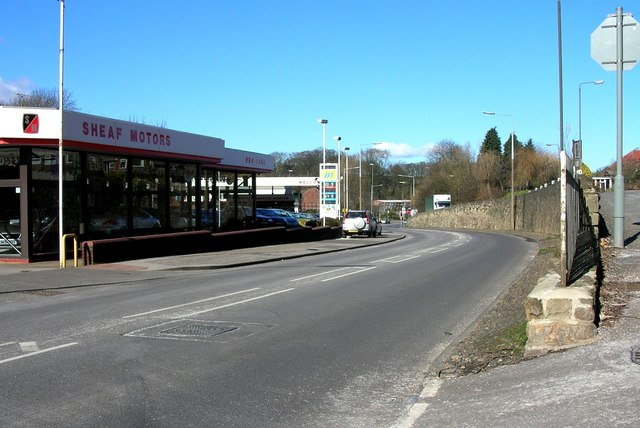 Sheaf Motors on Sheffield Road, Dronfield.