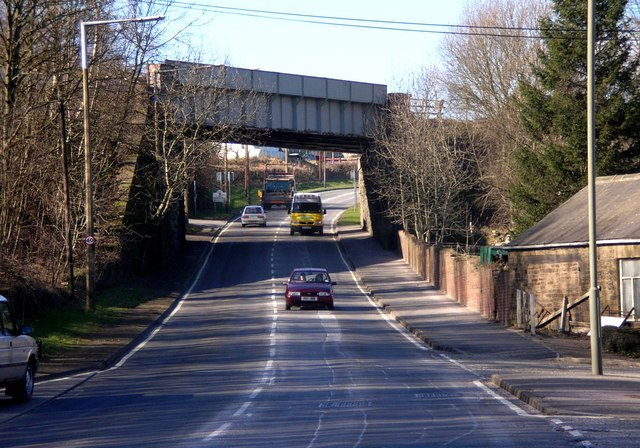 Railway Bridge crossing over Sheffield Road near Unstone.