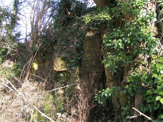 Roadside rock face, Upper Harlestone