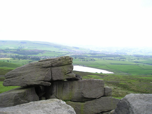 Embsay Reservoir from Deergallows Crag