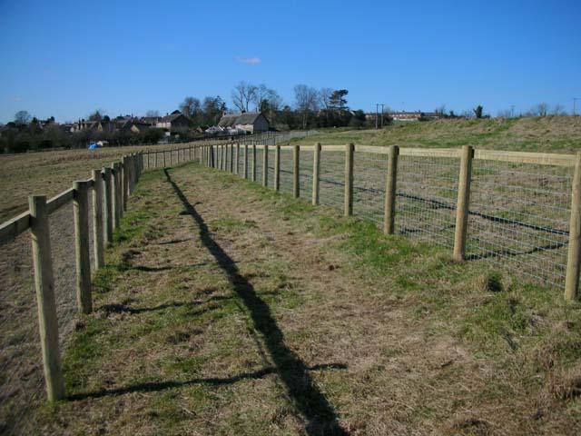 Footpath through horse-paddocks