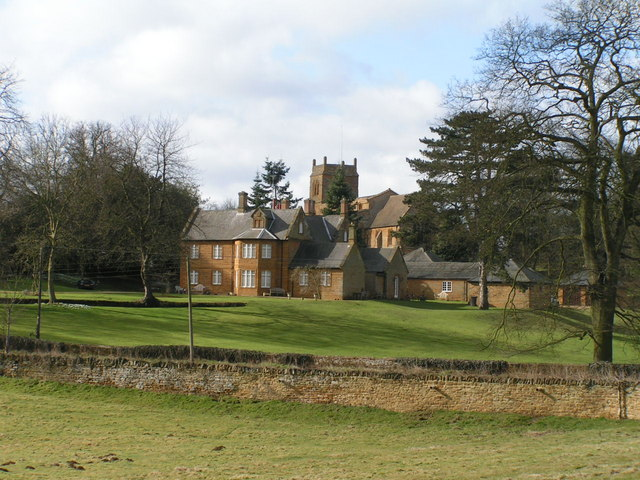 Harlestone House and Church