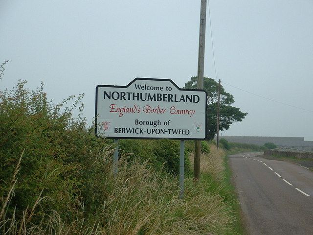 England/Scotland border on the B6461