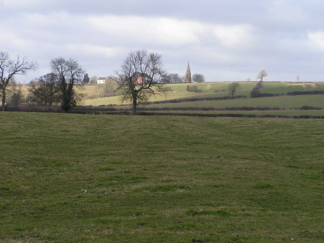 Ridge and furrow near Lower Glassthorpe