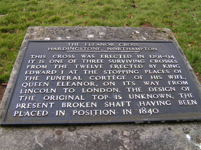 Plaque, Queen Eleanor's Cross