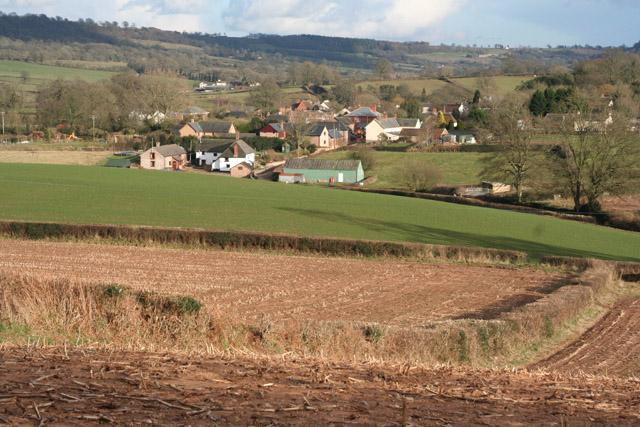 Uffculme: towards Ashill from near Reed's Cross