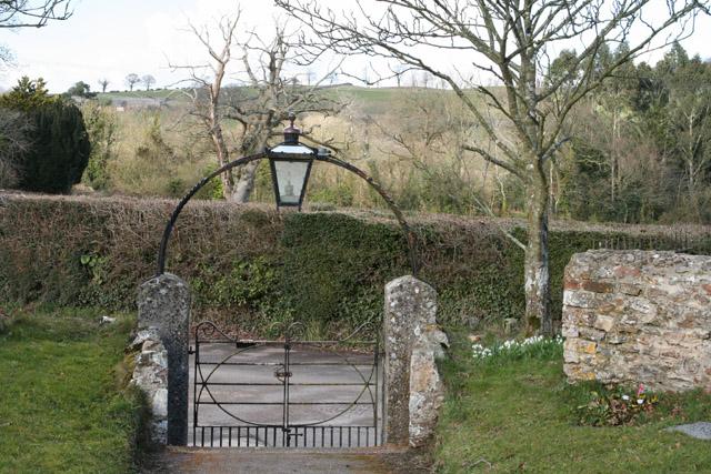 Buckerell: churchyard gate