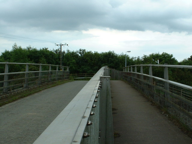 The bridge over the M20 near Westenhanger Station