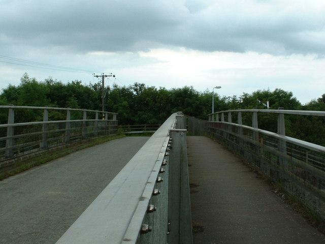 The bridge over the M20 near Westenhanger Station