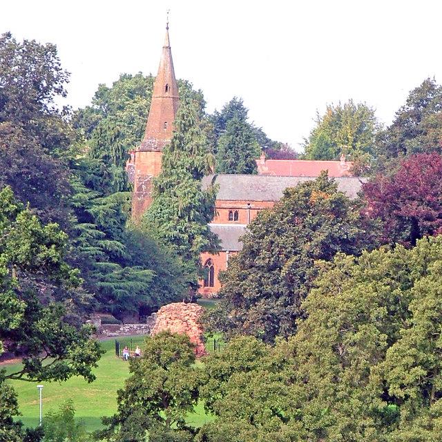 St Nicholas Church from Abbey Fields Kenilworth