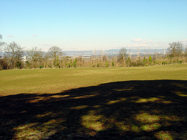 View across the fields towards the River Severn