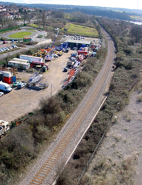 Railway line, looking down from Avonmouth Bridge