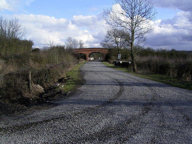 Access road to Battlefield Railway, Shackerstone, Leics