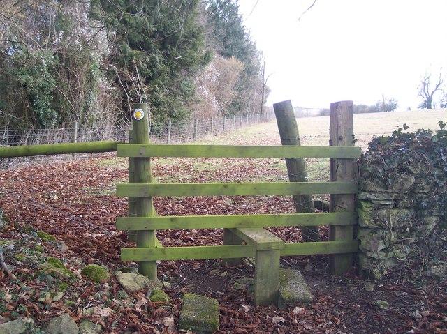 Footpath by Poston Wood