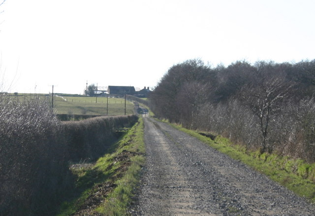 Track to Lawrenceholme Farm