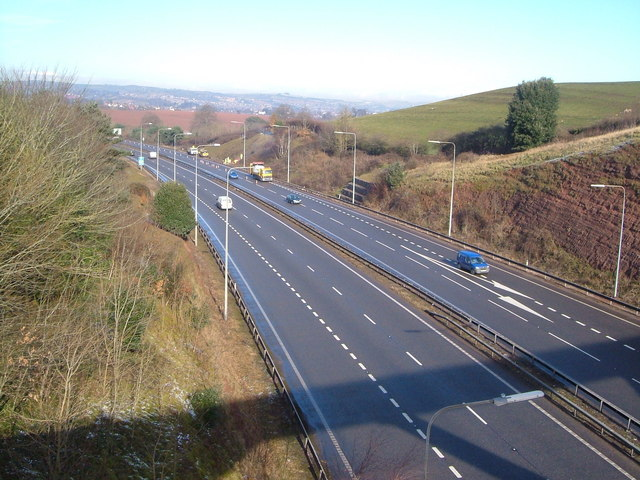 A30 at Pearce's Hill, Exeter