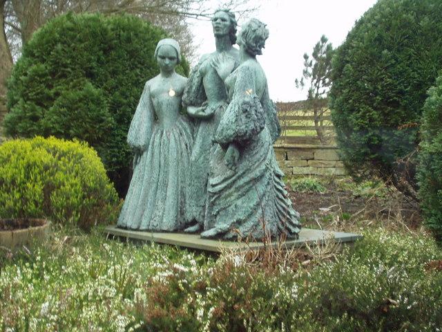 Bronte Sisters statue, Haworth Parsonage