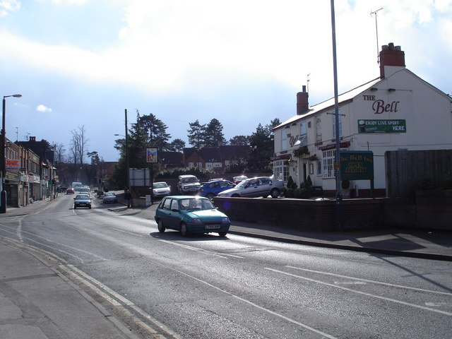 Street Scene on the A435 at Studley Village