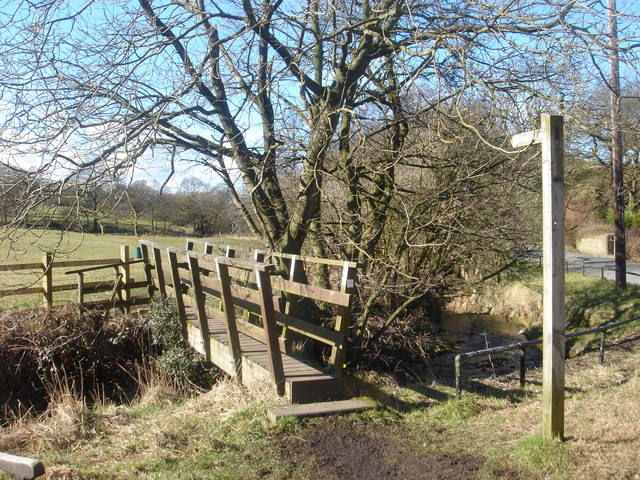 Footbridge at White Coppice
