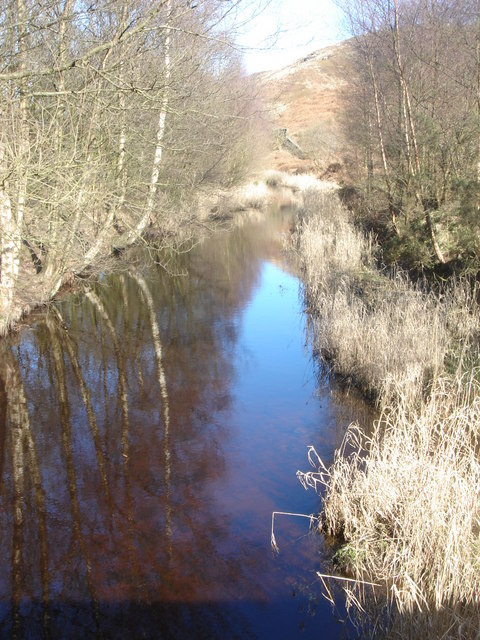 River Goit from a bridge at White Coppice