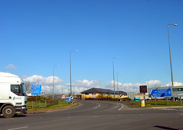 Slip road to M5, Junction 18