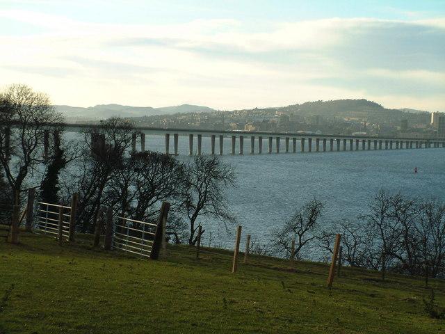 Part of the Tay Road Bridge