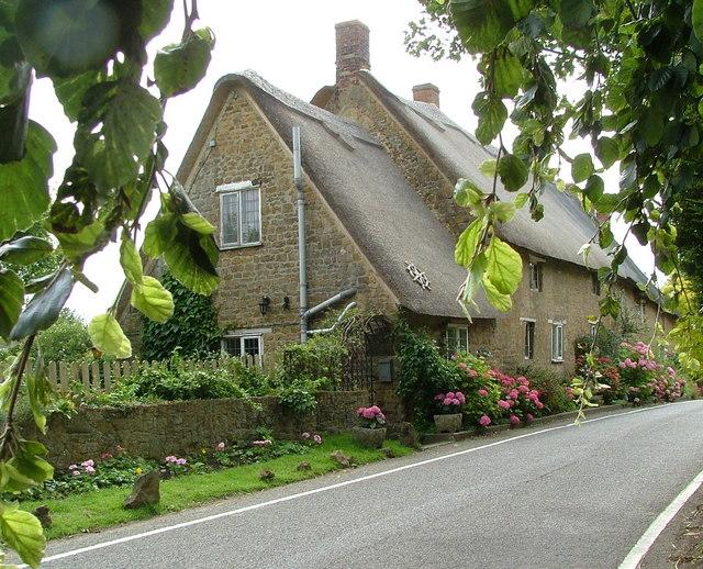 thatched cottages,Mollington