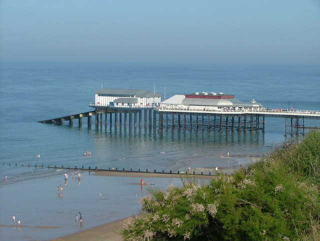 Cromer Pier with Lifeboat Station at end.