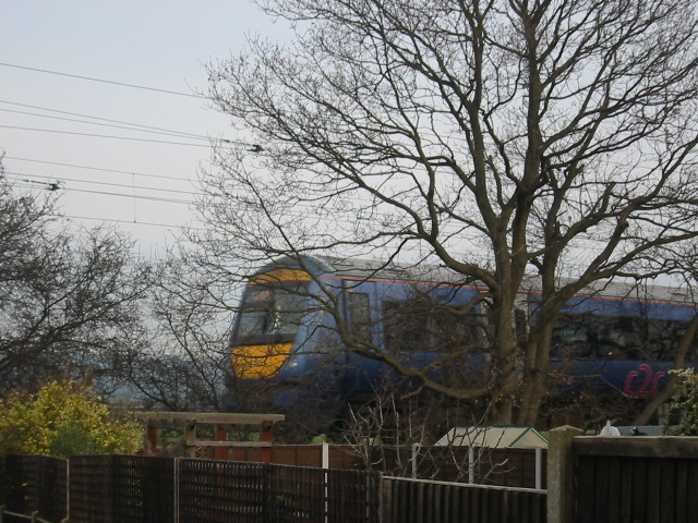 C2C train going past my back garden.