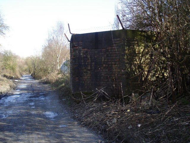 Pillbox watches over  the Abandoned Railway.