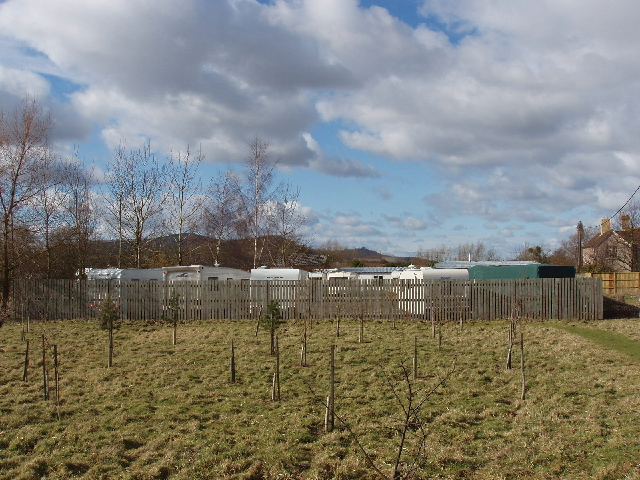 Caravan site near Alderton