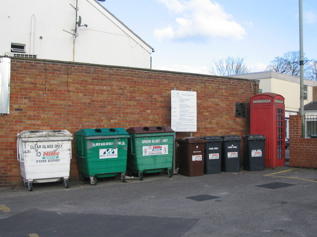 Recycling area, Warminster Road car park