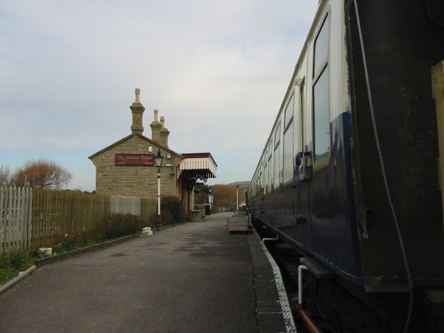Old railway station at West Bay