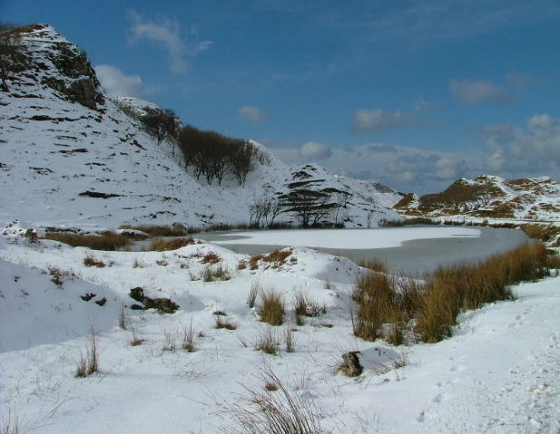 "Frozen Lochan Mor-Rhugh in ""Fairy Glen"""