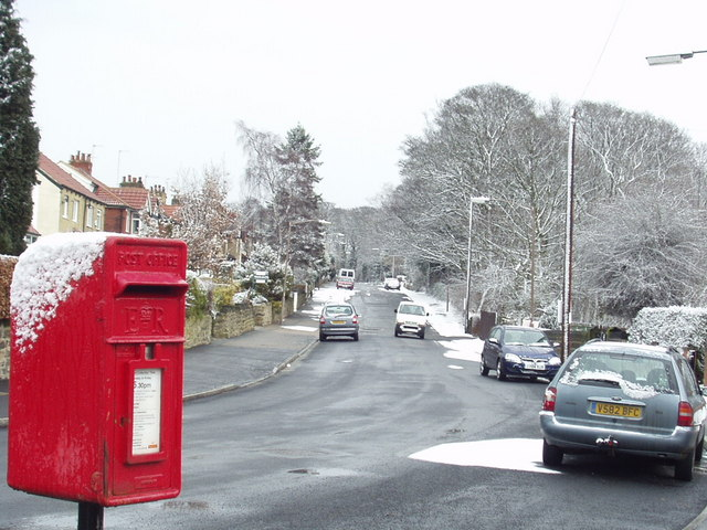 Outwood Lane in the snow, Horsforth
