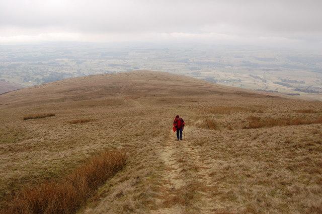 ascending the hillside on Thorn Moor