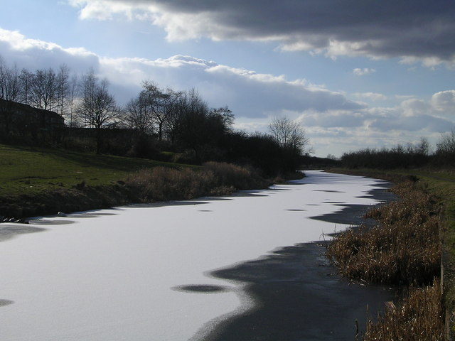 Frozen Forth Clyde Canal at Harestanes, Kirkintilloch