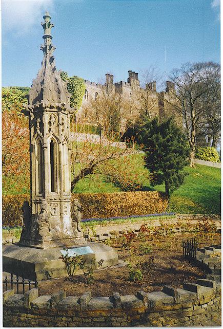 Monument, Clitheroe Castle Gardens.