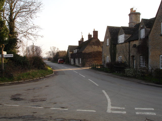 Barholm village at the junction of the road to Tallington Lakes