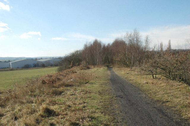 Disused railway line near Darton