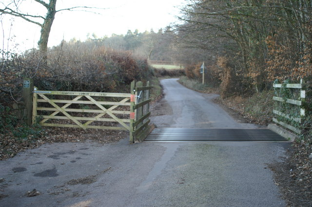 Cattle Grid at Entrance to Quantock Common